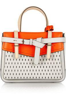 Bag of the week: Reed Krakoff Boxer perforated leather Tote Mk Handbags, Purses And Handbags, Leather Handbags, Leather Bag, Summer Handbags, Balenciaga, Saint Laurent, Summer Purses, Reed Krakoff