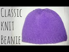 Classic Fitted Beanie   Knit Pattern   Knitting Tutorial - YouTube