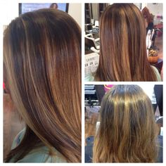 Before and after #balayage technique hi and low lights work by #JoLsalon