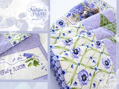 Nature's Palette by Marjolein Bastin for FreeSpirit: Patchwork Bed Topper | Sew4Home