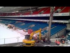 """Reinforcement works prior to construction of new upper tribune west """"Bendit svingen"""" Camera: HTC Location: Ullevaal Stadion, Oslo, Norway Edit by: Øyvind. Htc Hd2, Norway, Drill, February, Basketball Court, Construction, Drill Press, Building, Hole Punch"""