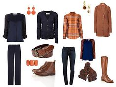 Packing: Navy, with brown accessories