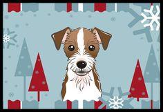 Winter Holiday Jack Russell Terrier Indoor or Outdoor Mat 24x36 BB1698JMAT