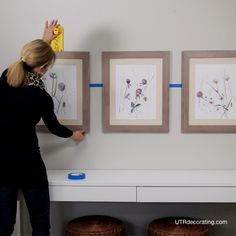 How to hang 3 pictures - I'm not sure this is helpful, but...