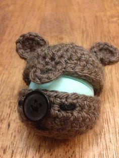 Teddy Bear EOS Lip Balm Holder/Treat Pouch - (EOS not included) on Etsy, $7.25