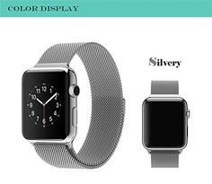 Apple Watch Band, with Unique Magnet Lock, 38mm 42mm Stainless Steel Bracelet Strap Band for Apple Watch 38mm 42mm All Models No Buckle Needed DMYY http://www.amazon.co.uk/dp/B01ASX9JSC/ref=cm_sw_r_pi_dp_yi77wb1E10ZDM
