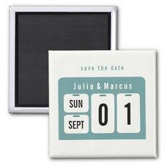 Perpetual Calendar Save the Date Wedding Magnet