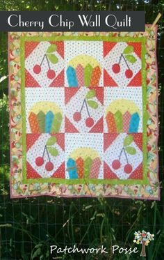 Cherry Chip Wall Hanging Quilt   Quilting Pattern   YouCanMakeThis.com
