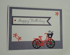Items similar to Birthday card, bicycle birthday card, homemade card on Etsy Birthday Cards, Happy Birthday, Cellophane Bags, Homemade Cards, How To Find Out, My Etsy Shop, Bicycle, Messages, Check