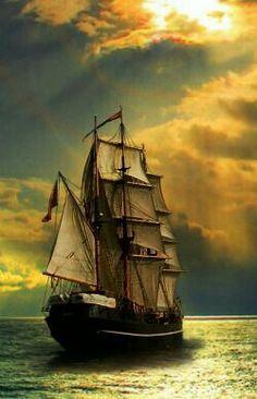Strong winds make good sailing Pirate Boats, Old Sailing Ships, Sailing Boat, Ship Paintings, Seascape Paintings, Boat Names, Tug Boats, Ship Art, Tall Ships