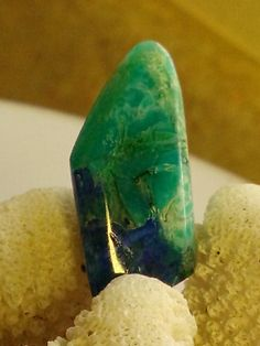Azurite Chrysocolla Free Form from Vintage by eclecticfashionshop, $78.00