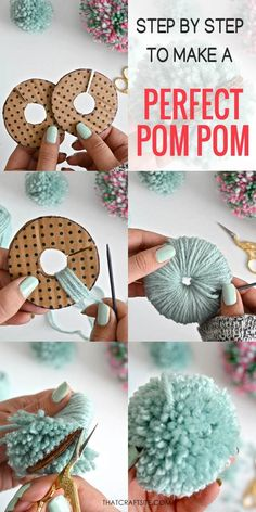 Easter Crafts, Holiday Crafts, Bunny Crafts, Crafts To Do, Arts And Crafts, Yarn Crafts For Kids, Diy Crafts, How To Make A Pom Pom, Things To Make With Yarn
