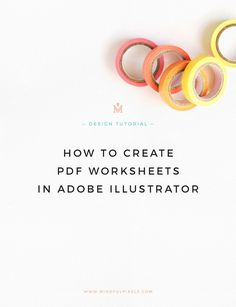 Create PDF worksheets in Adobe Illustrator — Mindful Pixels