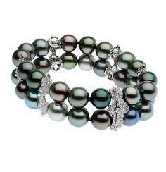 Venezia Tahitian South Sea pearls and diamond #bracelet by Autore