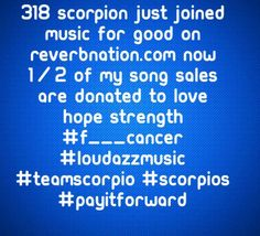 318 Scorpion joined Music for Good on Reverbnation.com
