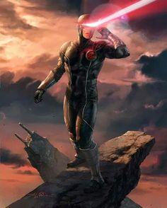 Marvel: War of Heroes - Cyclops by Aleksi Briclot Marvel Universe, Marvel Comics Art, Marvel Dc Comics, Marvel Heroes, Marvel Comic Character, Comic Book Characters, Marvel Characters, Comic Books Art, Comic Art