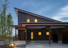 Home Room Design, House Design, Exterior Design, Interior And Exterior, Carport Designs, Contemporary Barn, Double Doors Interior, Front Doors With Windows, Entrance Design