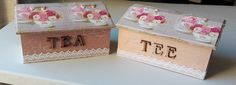Tea Boxes - 3 Dividers