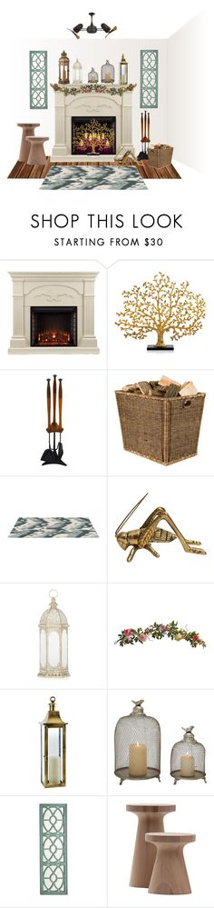 """""""Summer Mantle... Lanterns"""" by marvy1 ❤ liked on Polyvore featuring interior, interiors, interior design, home, home decor, interior decorating, Southern Enterprises, Michael Aram, OKA and Nearly Natural"""