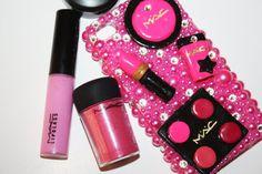 Swarovski Hot Pink Mac Cosmetics Iphone 4/4s case by slave2beauty, $70.00