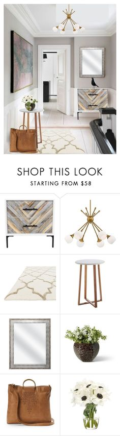 """""""Mid-century Modern (Refreshed)"""" by dundiddit ❤ liked on Polyvore featuring interior, interiors, interior design, home, home decor, interior decorating, George Kovacs by Minka, Mudd, NDI and modern"""