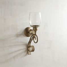 Arianna Small Metal Candle Holder Wall Sconce Champagne