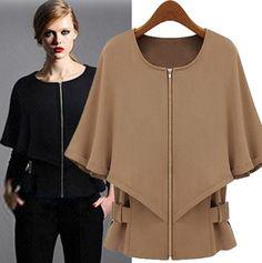 Aokin Women's Long Sleeve Camel Cloak Cape Coat Bat-wing Outerwear Shawl (L, Camel) $27.56 Aokin,http://www.amazon.com/dp/B00F39BIFE/ref=cm_sw_r_pi_dp_MuRDsb1S76MC0F3G