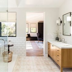 "131 Likes, 5 Comments - DISC Interiors (@discinteriors) on Instagram: ""Master Bathroom by DISC Interiors, a modern beach house photographed for Sunset Magazine by…"""