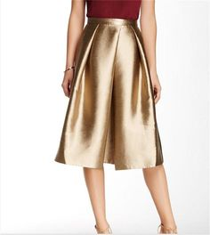 2017 Gold Knee Length Satin Skirtst With Zipper Back Pleats Bust Skirtsweep Train Spring Summer Wear Formal Party Dresses Cocktail Gown From Click_me, $32.17 | Dhgate.Com