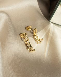 Blair Chain Shaker Studs- Gold (Ships Mid September) | Luv Aj