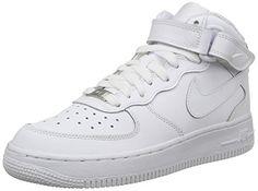 nice Nike - Zapatillas de baloncesto AIR FORCE 1 MID (GS) , Infantil , Blanco (WHITE), Blanco (WHITE), 38