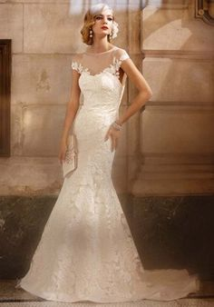 Sheer Top Wedding Dresses | Wedding Gallery