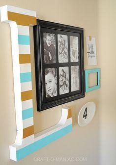 Easy and Simple 5 Piece Gallery Wall { lilluna.com }