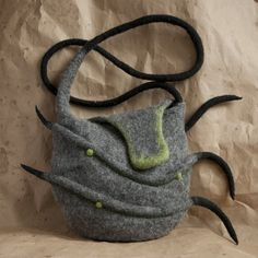 funny moustache felted bag by copok_copok
