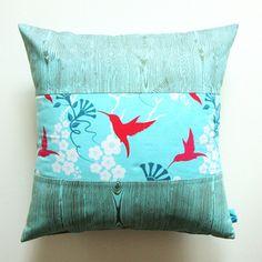 Electric Birds Pillows.