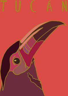 My Illustration Blog AnimalesDelMundo AnimalesDelMundoEcuador Ecuador animales animals illustration ilustración Tucan Bird Pajaro
