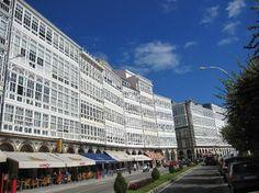 Coruña Típicos edificios de la ciudad.