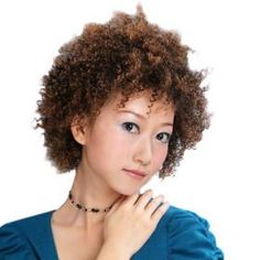 Capless Short Top Grade Synthetic Curly Wig *free ship