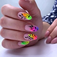 Top manicure 2020 to surprise everyone - isishweshwe Fancy Nails, Cute Nails, Pretty Nails, Cute Acrylic Nail Designs, Best Acrylic Nails, Minimalist Nails, Nail Swag, Nagellack Design, Rainbow Nails
