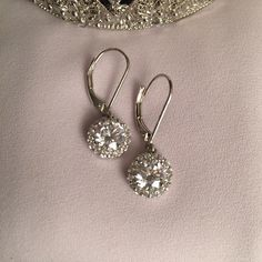 Simply Beautiful Crystal Earrings These have never been worn. Sparkly and sophisticated Jewelry Earrings