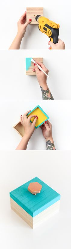 Learn to make this custom diy jewelry box in only 10 minutes!