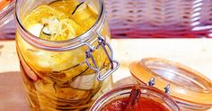 Make sandwiches and roasts extra special with homemade mustard pickles. Make extra so you can gift a jar to friends and family. Zucchini Pickles, Homemade Mustard, Mustard Pickles, Thing 1, Vegetable Salad, Appetisers, Italian Recipes, Roasts, Vegetarian Recipes