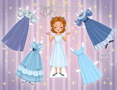 Wendy Darling (Peter Pan) paper doll