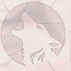 Wolf Pumpkin Carving Stencils | resize and then print.