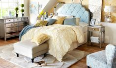 pier1 featured this room in their spring catalog, but I can't find the gorgeous bedding on their website.