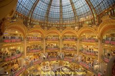 In Boulevard Haussmann in the IXe arondissement of Paris sits the world famous Galeries Lafayette department store which is certainly by far the most beautiful store I have ever been in. The flagship store in Paris has 10 storeys and a stunning glass dome over the main part of the building.