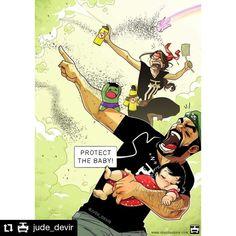 #Repost @jude_devir • • • • • • All for One! 😎🤜🤛 Shop: www.yehudadevir.com  Support us: www.patreon.com/yehudadevir  #judedevir #mayadevir #arieldevir #oneofthosedays #ilovemywife #ilovemydaughter Cute Couple Comics, Couples Comics, Couple Cartoon, Humour Couple, Yehuda Devir, Beste Comics, Relationship Comics, Life Comics, First Time Parents