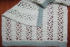 Ribbons and Lace Afghan - Afghans Crocheted My Patterns - - Mama's Stitchery Projects