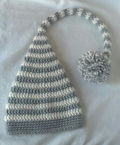 elf hat to crochet for baby... free pattern @ ravelry by made by miki