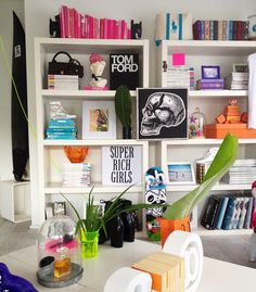 AMAZE. Decorate *US and AUS copies* seen on the bookcase of stylist Jeaneen Kelly